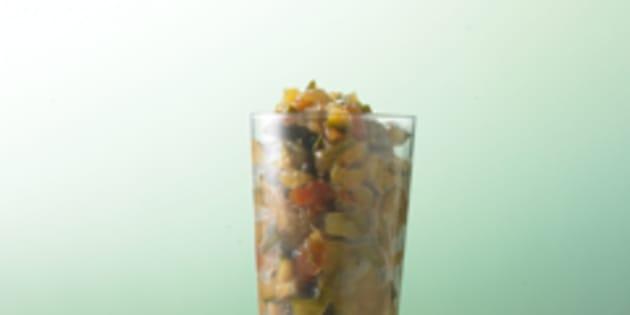 Ma recette, vite fait, bien fait, du chutney de courgettes.