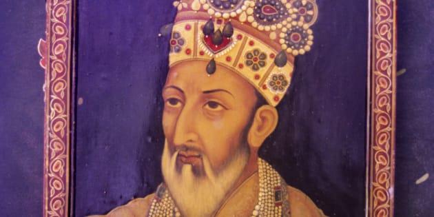 Miniature of Bahadur Shah Zafar.
