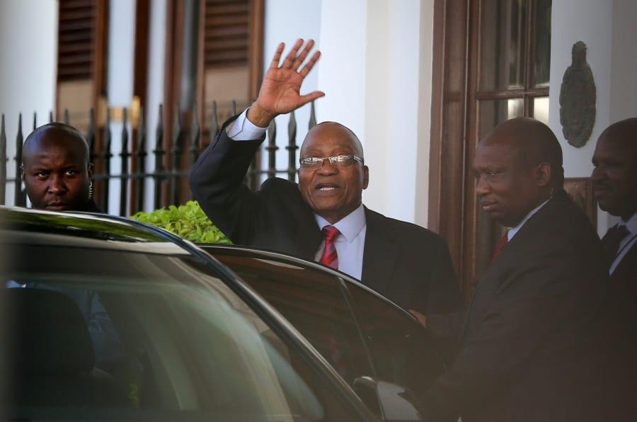Hello, goodbye? President Jacob Zuma leaving Tuynhuys this week.
