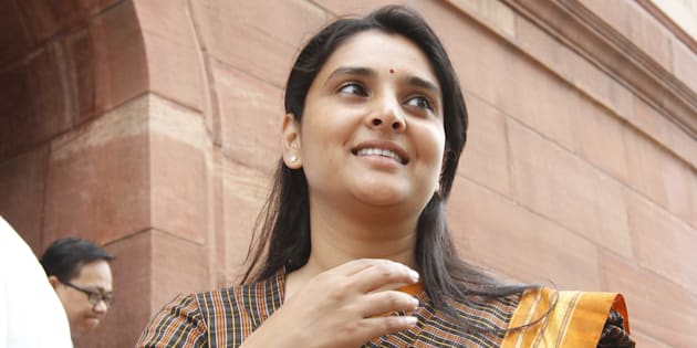 File photo of actor-turned-politician Ramya.
