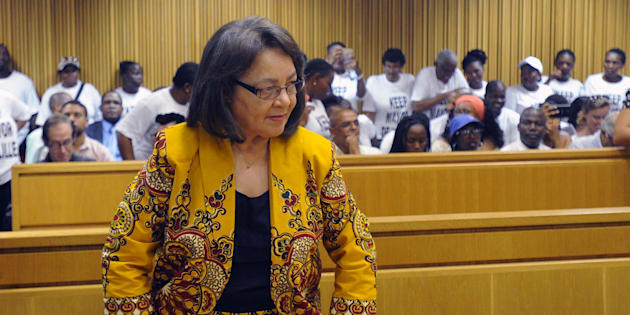 Patricia de Lille is pictured during the case between Patricia de Lille and the Democratic Alliance (DA) at the Western Cape High Court on February 13, 2018 in Cape Town, South Africa.