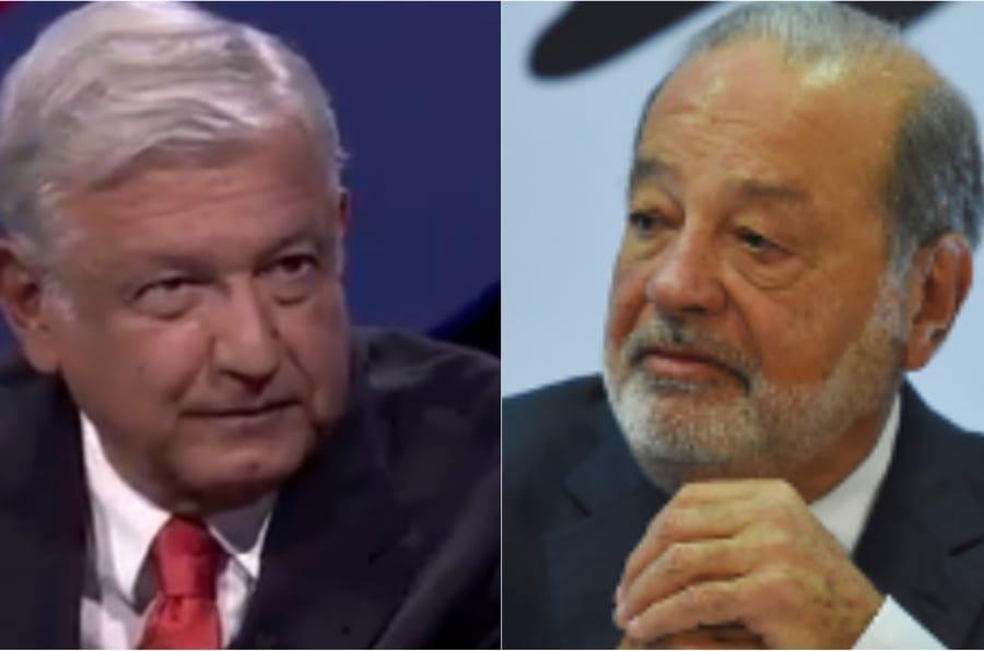 El candidato presidencial Andrés Manuel López Obrador contestó a los argumentos de Carlos Slim, que ayer salió a defender el proyecto del Nuevo Aeropuerto Internacional de México (NAIM).