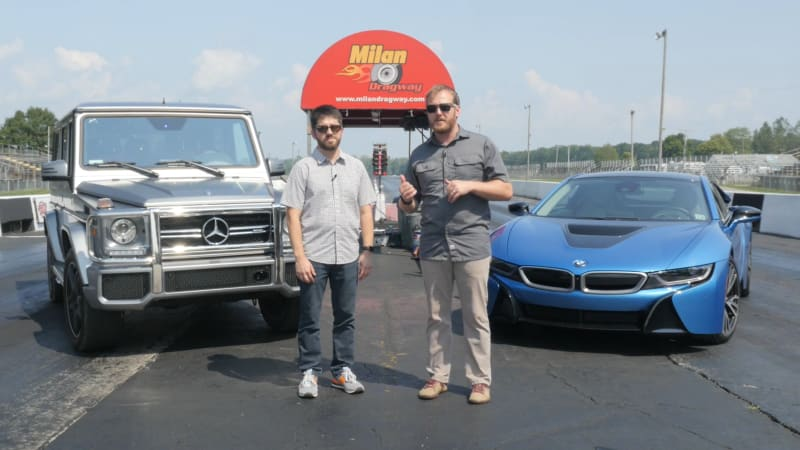 Mercedes G63 Vs Bmw I8 Our Silly Drag Race Between The Past And