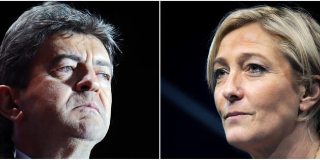 """Pour Marine Le Pen, une alliance antisystème avec Jean-Luc Mélenchon sur le modèle italien serait """"compliquée""""."""