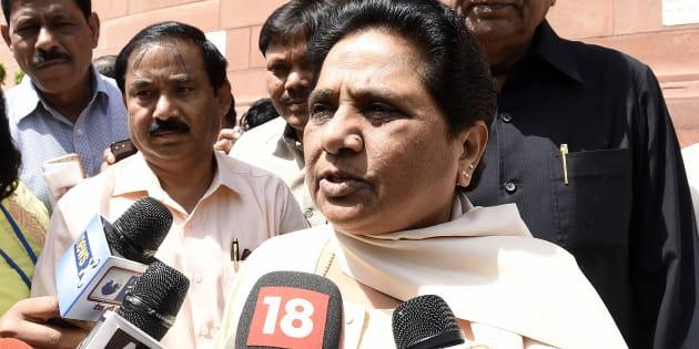 Rajya Sabha MP and BSP Chief Mayawati during the Parliament Budget Session.