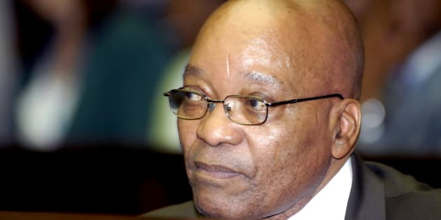Former president Jacob Zuma waiting in the dock at the Pietermaritzburg High Court in 2009.