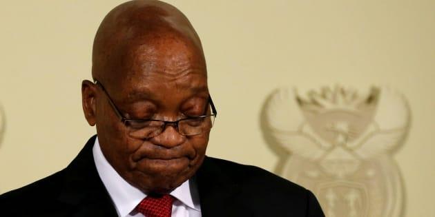 Jacob Zuma, February 14, 2018.