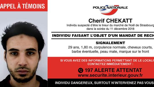 Chérif Chekatt aussi traqué par l'Allemagne et la Suisse, où il a été condamné plusieurs
