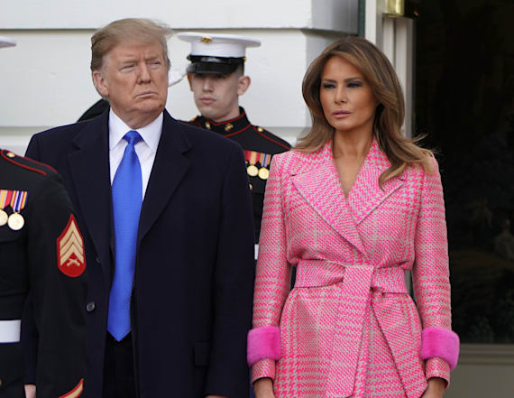 Twitter calls Melania's coat an 'expensive bathrobe'