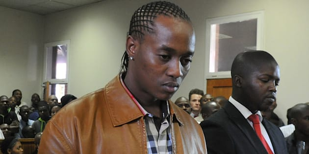 """Molemo """"Jub Jub"""" Maarohanye (L) and his co-accused Themba Tshabalala (R) were found guilty on four counts of murder and two of attempted murder at the Protea Magistrate's Magistrate Court on October 16, 2012 in Johannesburg, South Africa."""