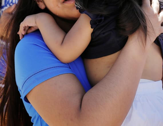 Migrant mom separated from daughter speaks out