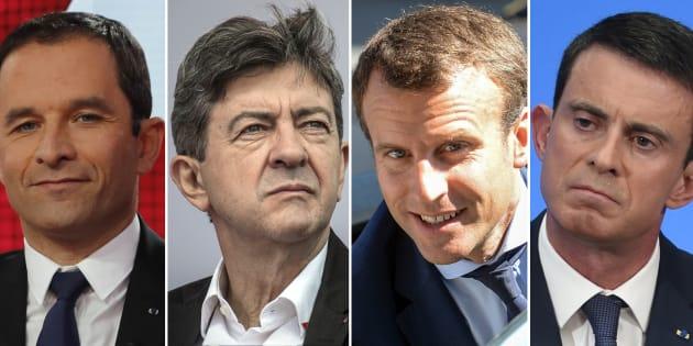 Qui de Mélenchon ou de Macron a remporté le premier tour de la primaire de la gauche?