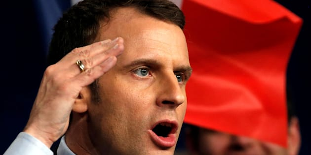 Emmanuel Macron en meeting à Reims vendredi 17 mars.