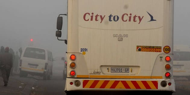 Commuters on July 1, 2015 in Pretoria, South Africa. Commuters were left stranded yesterday morning as bus operator Autopax failed to find drivers to operate on some major routes it has taken over from Putco.