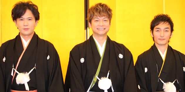 (左から)稲垣吾郎、香取慎吾、草彅剛