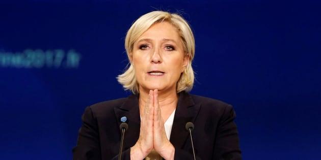 Marine Le Pen, à Bordeaux le 2 avril.