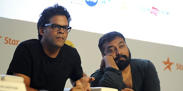 (From left) Vikramaditya Motwane and Anurag Kashyap at the 2016 press conference for the Jio MAMI Mumbai Film Festival in Mumbai.