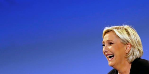 Marine Le Pen en meeting ce dimanche à Bordeaux.