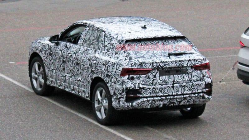 Audi Q4 SUV spy shots show a coupe Q3