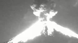 L'éruption spectaculaire du Popocatépetl au