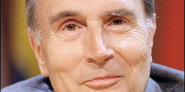 François Mitterrand, le 4 septembre 1987 à Quebec lors d'un sommet de la Francophonie.