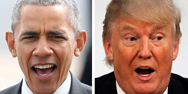 Obama versus Trump.