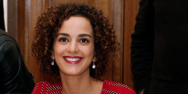 Leïla Slimani, le 3 novembre 2016 pour la remise du prix Goncourt.