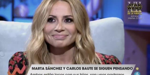 Marta Sánchez en 'Viva la vida'.