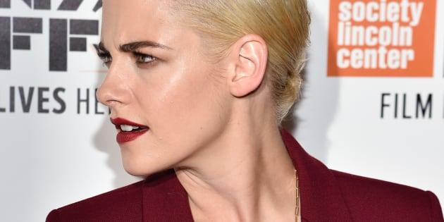 """Kristen Stewart à la projection de """"Certain Women"""" au 54ème festival du film de New York le lundi 3 octobre."""