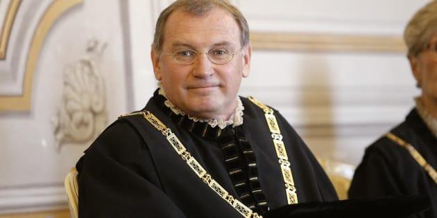 Il giudice costituzionale Nicolo' Zanon in una immagine del 02 dicembre 2014.  ANSA/GIUSEPPE LAMI