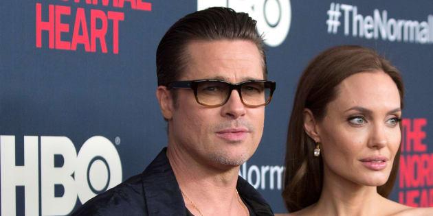 """Brad Pitt et Angelina Jolie pour l'avant-première de """"The Normal Heart"""" en mai 2014"""