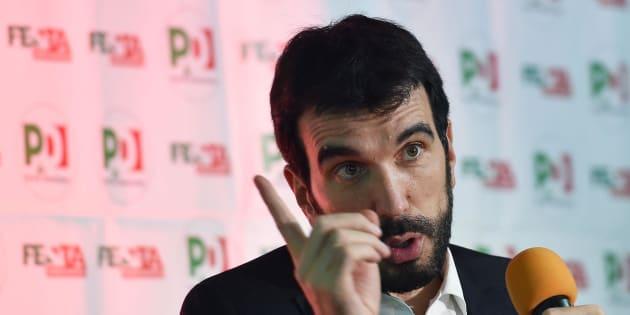 Maurizio Martina, segretario del Partito Democratico, in una recente immagine d'archivio.  ANSA/ ALESSANDRO DI MARCO