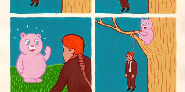 L'oeuvre de Joan Cornellà mêle référence infantile et violence extrême.
