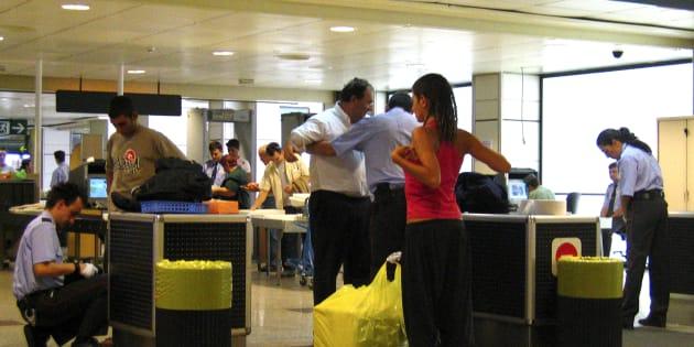 Control de seguridad en Barajas, en una imagen de archivo.