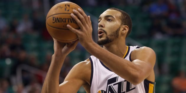 Rudy Gobert le 12 octobre 2016 à Salt Lake City.