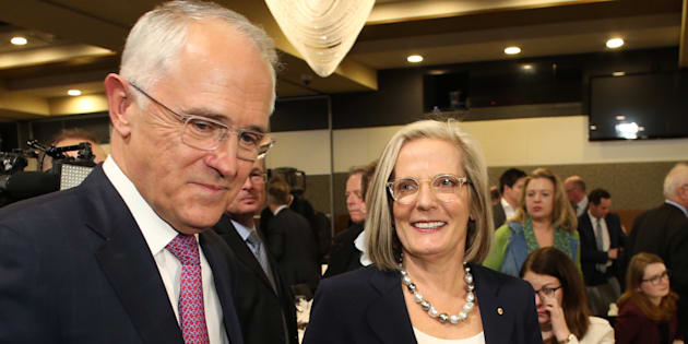 Malcolm Turnbull and wife Lucy at the National Press Club.