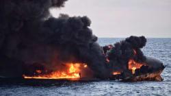 Le pétrolier iranien en flammes depuis 8 jours a coulé, 29