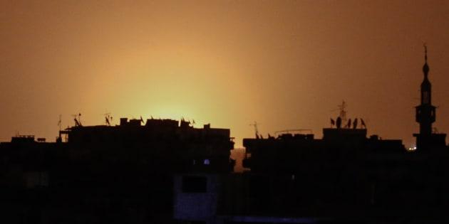 La Syrie a accusé son voisin israélien d'avoir provoqué une énorme explosion à côté de l'aéroport de Damas.