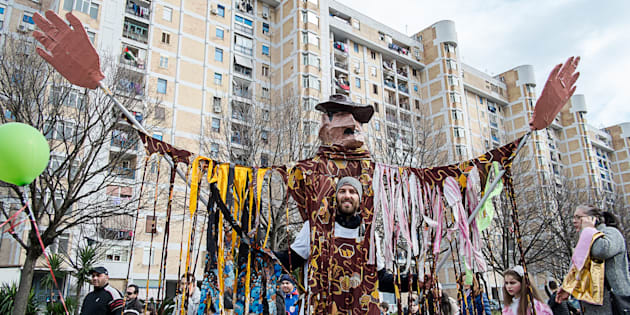 L'associazione culturale Gridas, come ogni anno, organizza il carnevale di Scampia. (Photo by Paolo Manzo/NurPhoto via Getty Images)