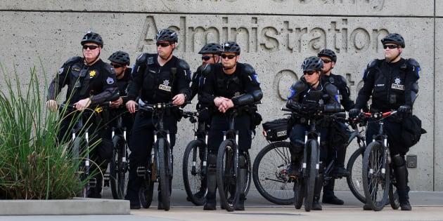 Des policiers à Sacramento le 29 mars 2018.