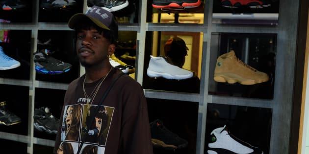"""Le rappeur Jo$man, qui sort ce vendredi son premier album, est également l'égérie de la marque Jordan et le visage de sa nouvelle chaussure """"Future""""."""