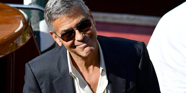 US actor George Clooney at Lido Beach for the 74th annual Venice International Film Festival, in Venice, Italy, 01 September 2017. The festival runs from 30 August to 09 September.    ANSA/ETTORE FERRARI