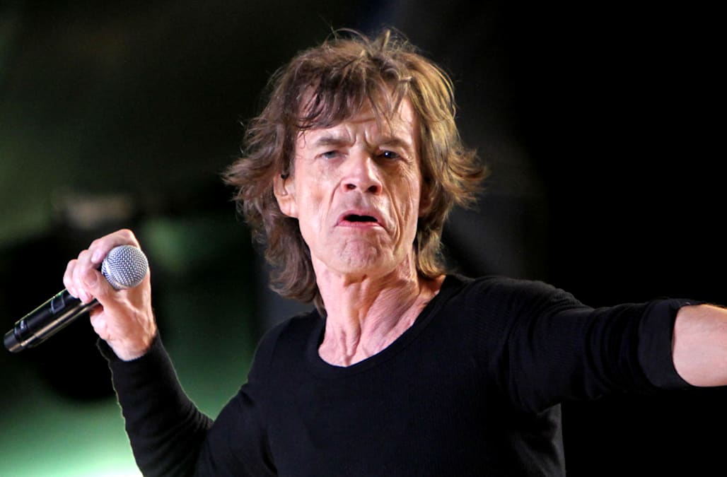 Mick Jagger appears to be back on his feet following heart