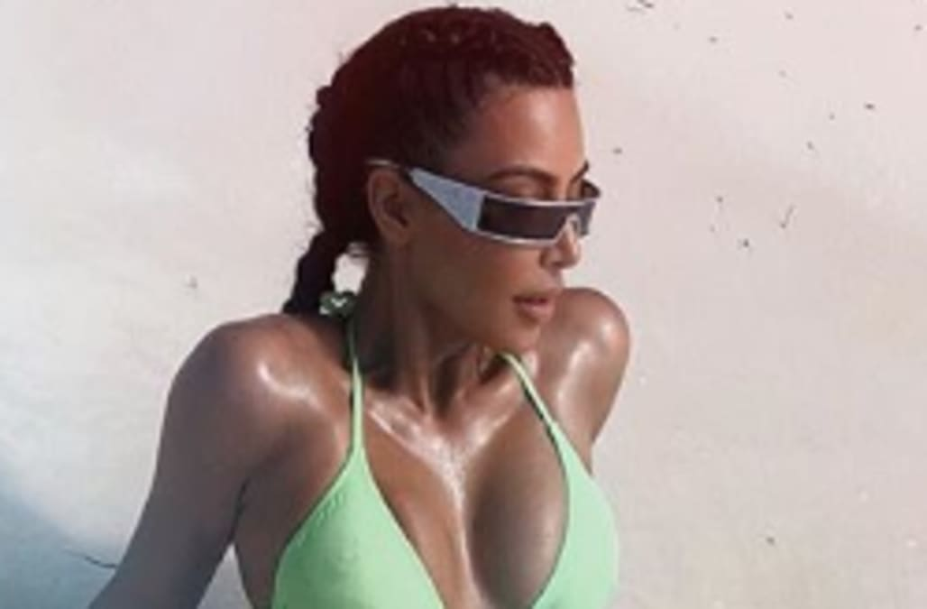 e647734c1d Kim Kardashian West flips off her haters with sizzling bikini pic ...