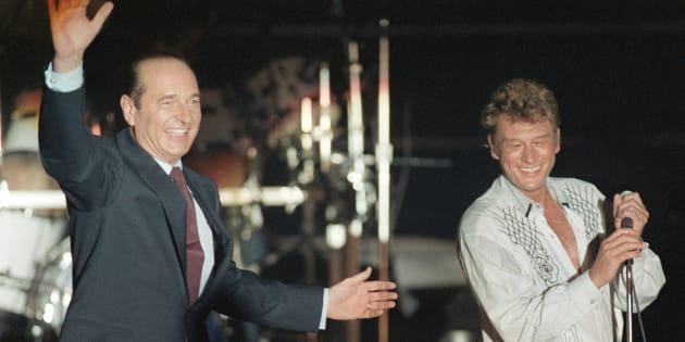 En mars 1988, à un mois du premier tour de la présidentielle, Johnny Hallyday est la star d'un meeting géant du candidat du RPR Jacques Chirac à Vincennes.