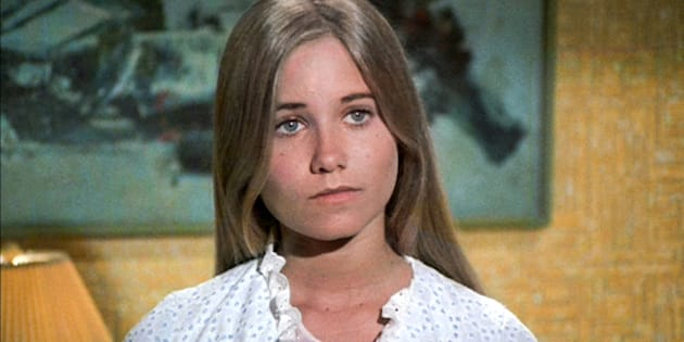 LOS ANGELES - SEPTEMBER 29: Maureen McCormick as Marcia Brady in THE BRADY BUNCH episode, 'Pass The Tabu.'  Original air date September 29, 1972.    Image is a screen grab.  (Photo by CBS via Getty Images)