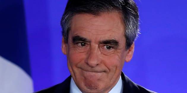 François Fillon à Paris le 23 avril 2017.