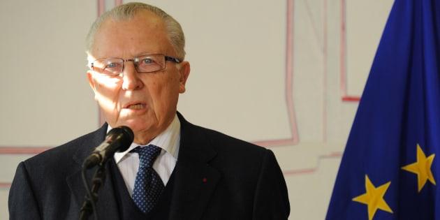 L'ancien Président de la Commission européenne Jacques Delors lors d'une conférence de presse le 7 février 2012 à Bruxelles.