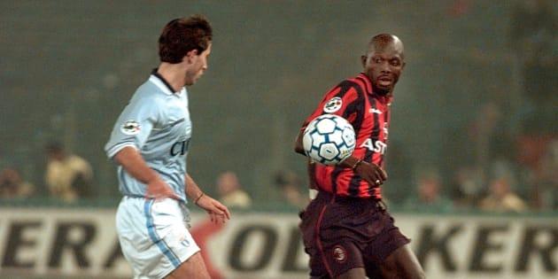 George Weah sous le maillot du Milan AC en 1998.