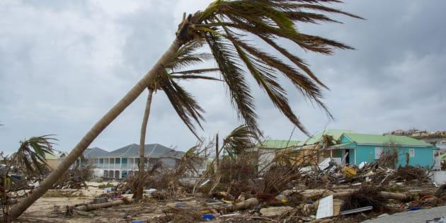 Photo de Porto Rico après le passage de l'ouragan Irma en 2017.
